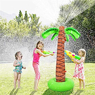 Massage-AED Splash Pad, Árbol de Coco Aspersor de Juegos de Agua para Niños, Aspersor de Juego para Actividades Familiares Aire Libre/Fiesta/Playa/Jardín: Amazon.es: Deportes y aire libre