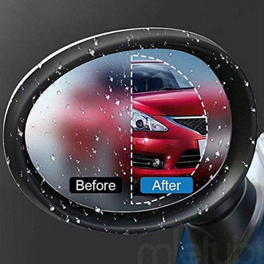 BENBW 1Set Car Rearview Mirror Protective Film Anti-Fog Protective Film Anti-Glare Anti-Scratch Rainproof (with Scraper and Alcohol pad) by BENBW (Image #7)