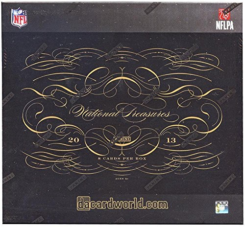 National Treasures Football Hobby Box (2013 Panini National Treasures Football Hobby Box - Panini Certified - Football Complete Sets)
