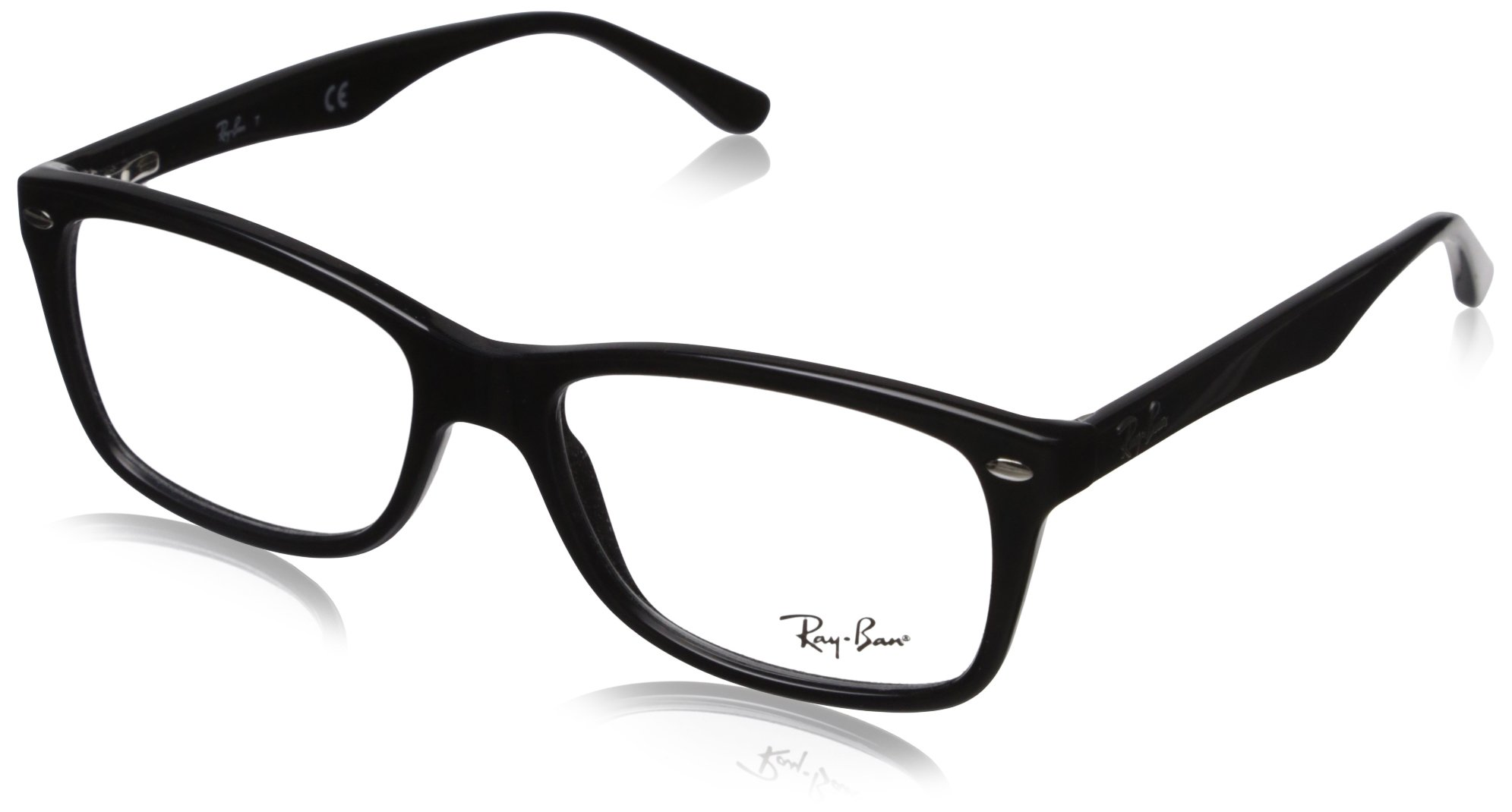 Ray-Ban Women's RX5228 Eyeglasses Shiny Black 53mm by Ray-Ban