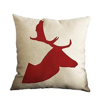 Sofa Cushion Covers Amazon: Amazon com  Nunubee Square Christmas Pillowcase Home Car Decor    ,