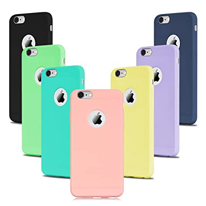 09cd9e1ab2b SpiritSun 7 x Funda iPhone 6 Plus / 6S Plus, Soft Carcasa Funda Diseño Mate