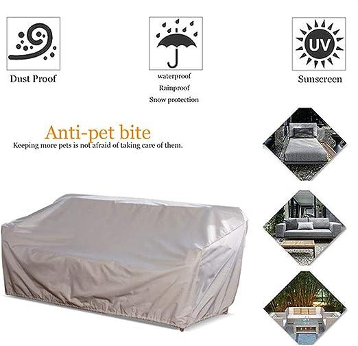 HYCZW Fundas Muebles Jardín, Funda Protectora para Sofá De 3 Plazas Cubierta De Sofá Protección UV Impermeable Protección contra La Nieve PE Oxford, 218X99x90 Cm (Beige): Amazon.es: Hogar