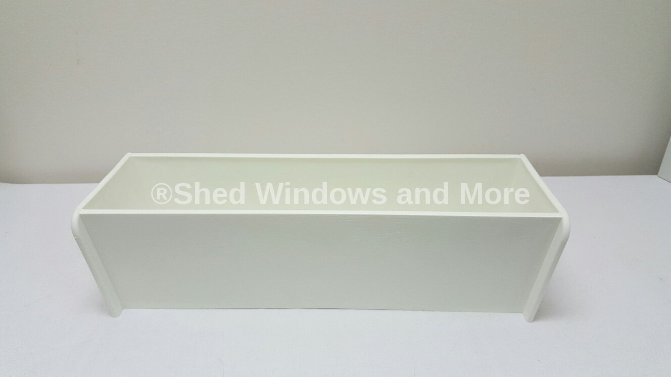 18'' White Flower Box Window Box Sheds Playhouses