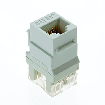 61FjvFBAm5L._SY355_ on q f3450whv5 rj45 data phone jack white, 5pack amazon com on q legrand rj45 wiring diagram at crackthecode.co