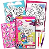 My Little Pony Coloring Book with Stickers & Take-N-Play Set ~ Shaped Foil Cover Pinkie Pie Coloring Book with My Little Pony Stickers, Markers, & Bonus Sticker! by HUB Studios