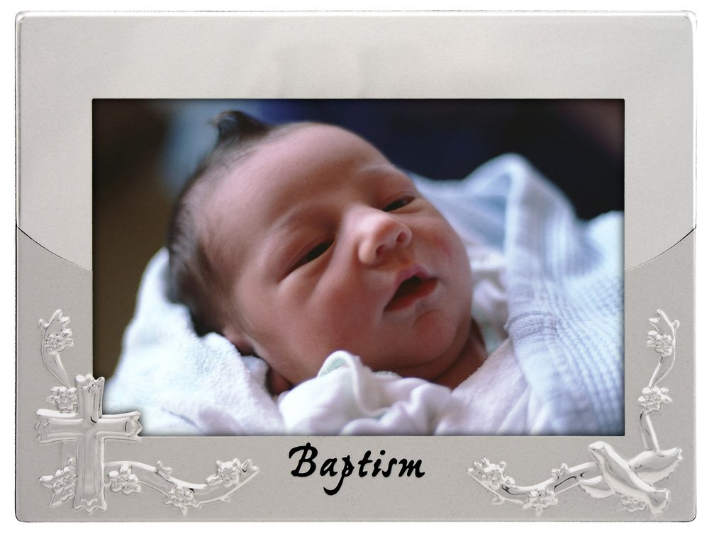 Malden International Designs Baptism Christening Picture Frame 4x6 Silver