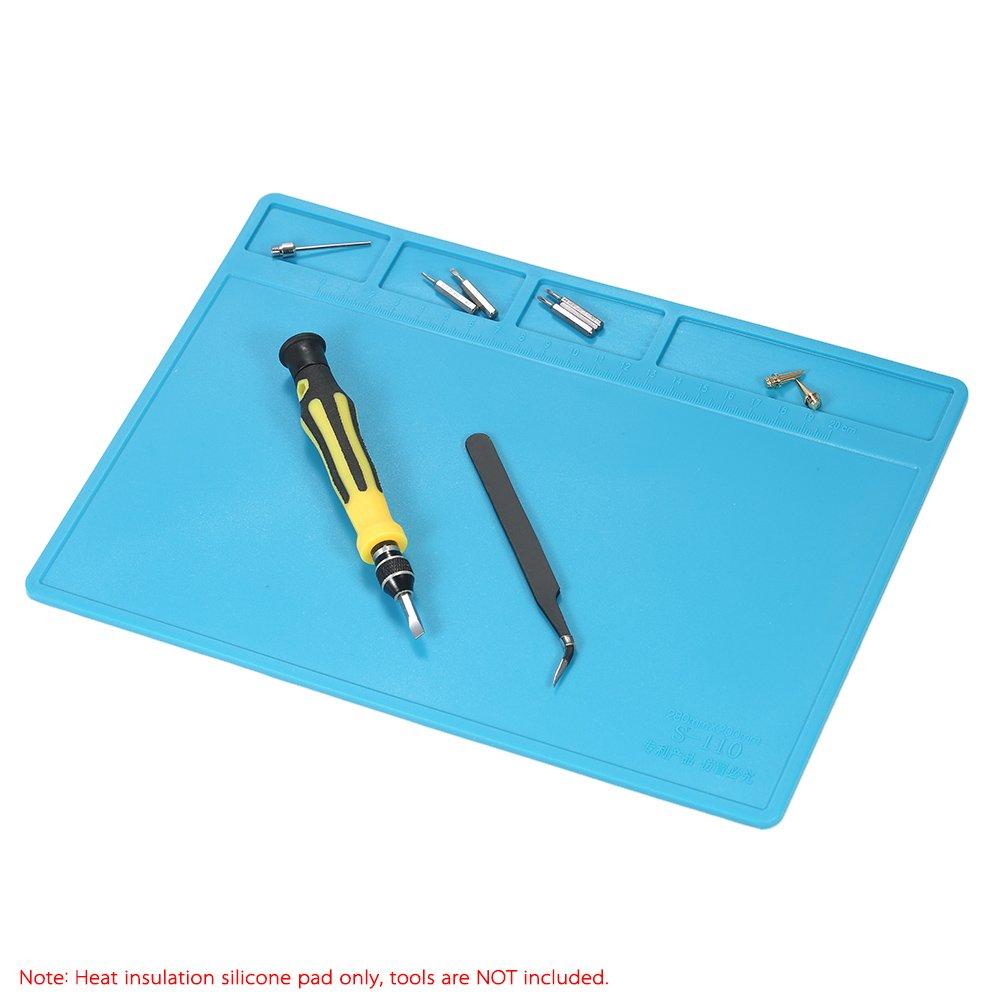 KKmoon 280 * 200 mm alfombra para soldar - sello de silicona de aislamiento térmico para la reparación de soldadura de BGA mate: Amazon.es: Hogar