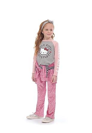123850a7d Blusa Infantil Meia Malha Hello Kitty  Amazon.com.br  Amazon Moda