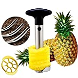 5-in-1 Fruit Tools With Fruit Forks Stainless Steel Pineapple Corer Slicer Peeler, Wedger Device, Better Enjoy The Fruit Production Process, Good For Home & Garden Party.