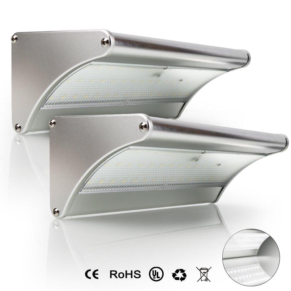 SINJIAlight センサーライトソーラーライト 屋外 人感センサー屋外照明 太陽発電 ワイヤレス 防水 省エネ高輝度 (2個, 24 led) B07DHFN8CL 13000 2個|24 led 24 led 2個
