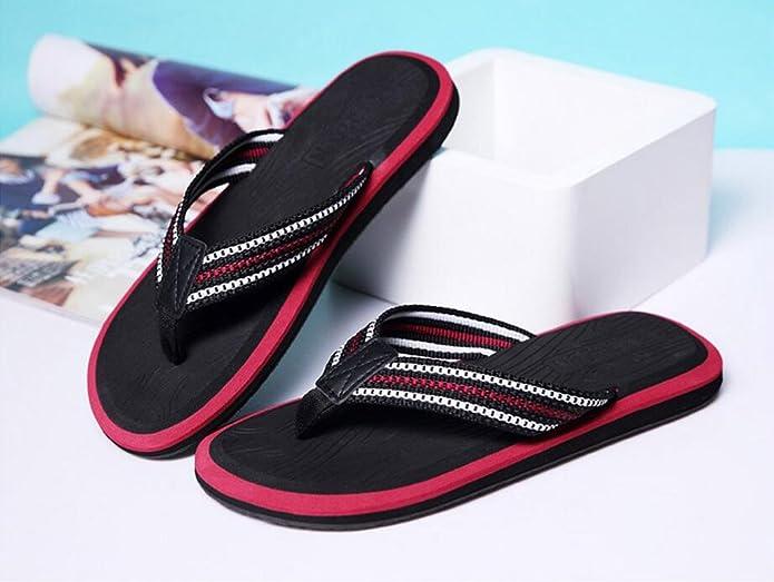 Summer Man Slipper, Sandalen Schuh mit Füßen Anti-Rutsch Strand Schuhe Flip Flops Fuß Hausschuhe Großformat Hotel Gästezimmer Slipper ( Farbe : B , größe : 25.5CM )