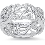 CHOOSE YOUR COLOR Sterling Silver Filigree Ring
