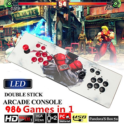 Arcade Game Box (Pandora's Box 5S Arcade Video Game Console 986 In 1 Games with Customized Buttons)