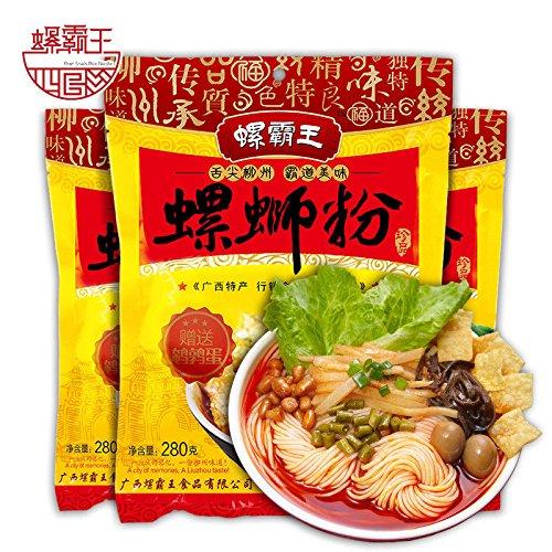 包邮Guangxi specialty(螺霸王 螺狮粉 280gx6袋 )authentic Lo King snail powder正宗广西柳州螺螄粉 方便面 Chinese Ltd