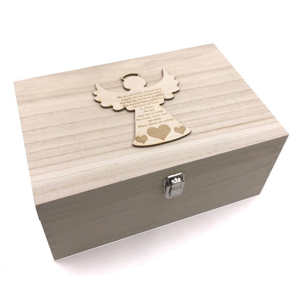 Guardian Angel Memorial Remembrance Large Memories Keepsake Box