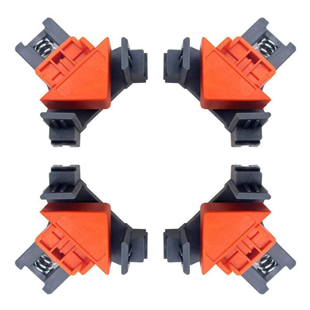 Geapy 4 Piezas 90 Grados /ángulo Recto Abrazadera de Esquina Carpintero carpinter/ía Herramientas de Mano de carpinter/ía