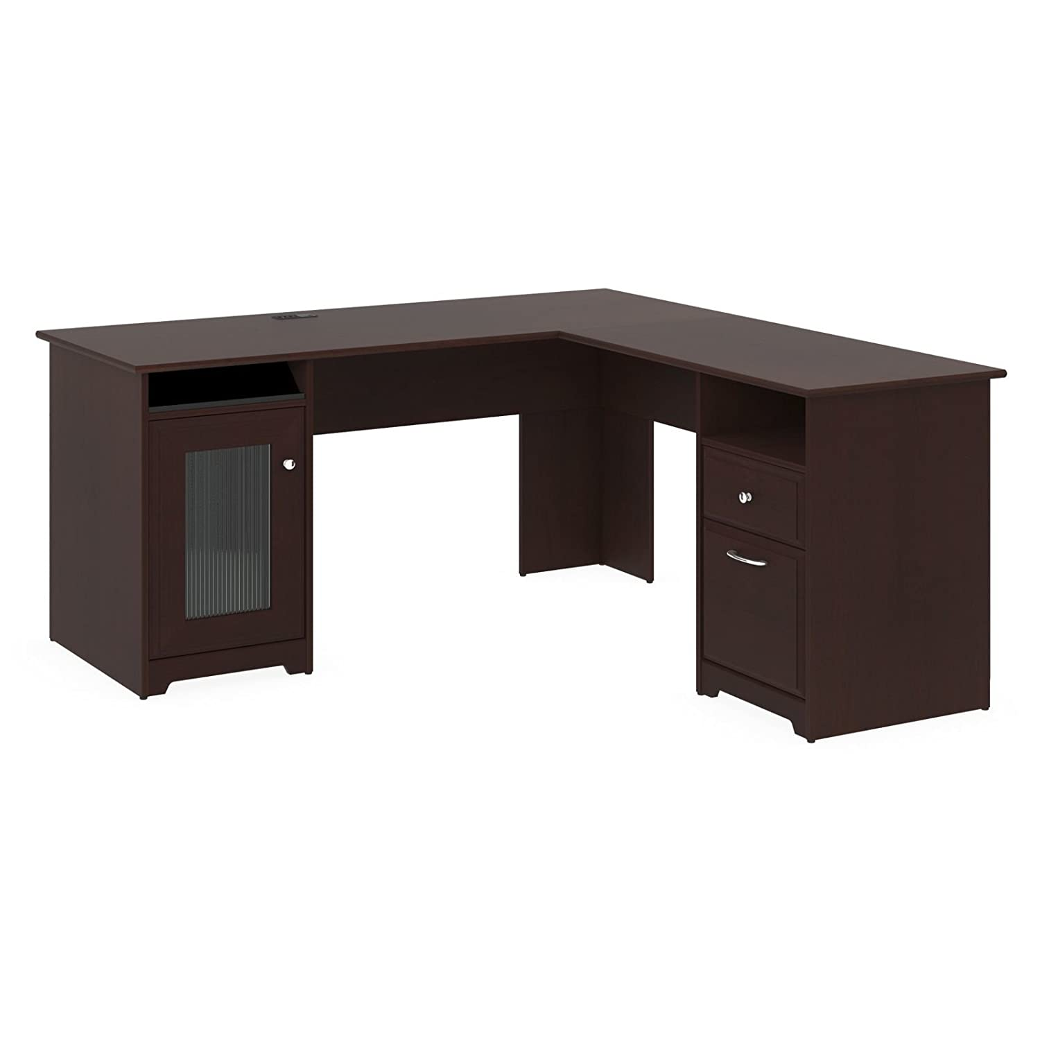 home office l shaped desks. amazoncom premium lshaped desk modern stylish executive table storage organization home office free ebook harvest cherry kitchen u0026 dining l shaped desks