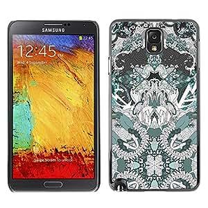 Caucho caso de Shell duro de la cubierta de accesorios de protección BY RAYDREAMMM - Samsung Galaxy Note 3 N9000 N9002 N9005 - Spiritual Pattern Drawing Art