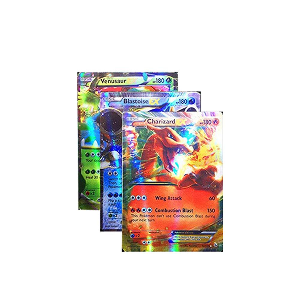 Liery 100PCS Pokemon Karten mega ex Kunst 59 EX-Karten 20 GX-Karten 1 Energie A 20 Mega-EX-Karten