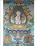 Photographic Print of Painting of Avalokitesvara, the Buddha of Compassion, Kathmandu, Nepal, Asia