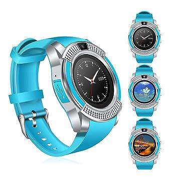 MOGOI Reloj Inteligente para Hombre, Reloj de Pulsera Bluetooth V8 Impermeable Fitness Tracker Reloj con