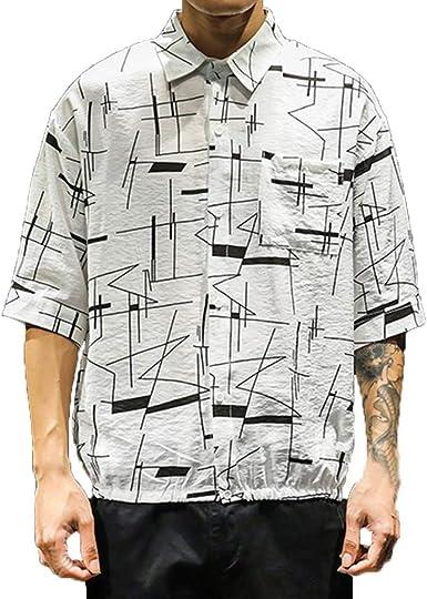 CAOQAO Camisa Hombre Hawaiana Verano Manga Corta Funky Print Casual Fashion Shirt Múltiples Estilos: Amazon.es: Ropa y accesorios