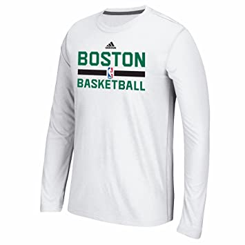 Adidas Boston Celtics NBA Graphic Blanco auténtica Pista Climalite Performance Camiseta de Manga Larga para Hombre, L, Blanco: Amazon.es: Deportes y aire ...