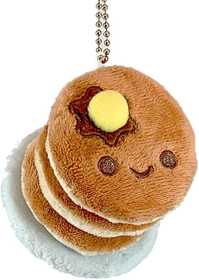 Amazon.com: 100% Soft Pancakes Plush Charm Keychain: Toys ...