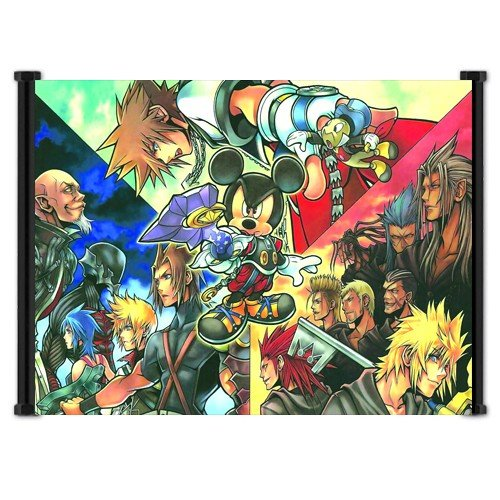 "Kingdom Hearts Game Fabric Wall Scroll Poster ""21 X 16"" Inch"