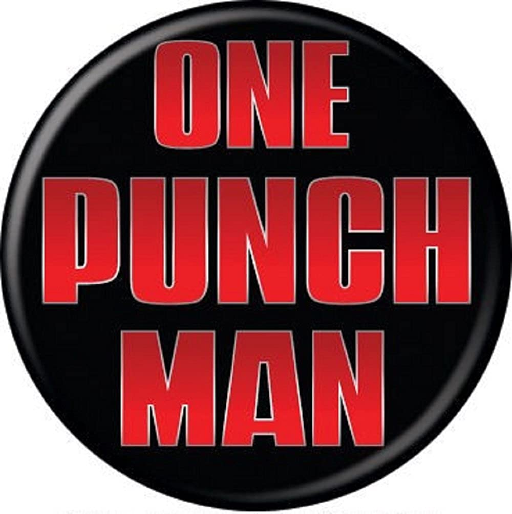 Amazon Com One Punch Man Logo Pinback Button 1 25 Clothing