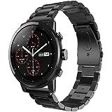 Smart orologio da polso con chiusura in metallo per Huami Amazfit Stratos 2, Vneirw stainless steel Watch replacement Band Watchband Wristband bracciali di, nero