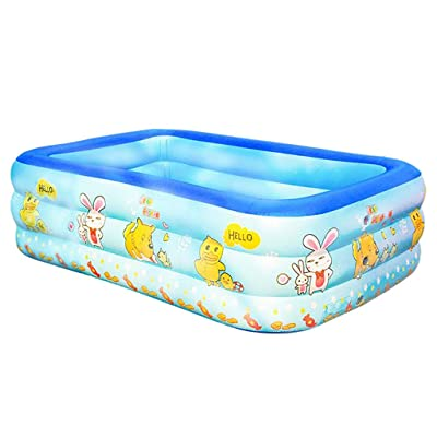 Inflatable Swimming Pool, Inflatable Kiddie Pools, Resistant Thick Family Swimming Pool, Swim Center for Kids, Adults, Outdoor, Garden, Backyard: Beauty