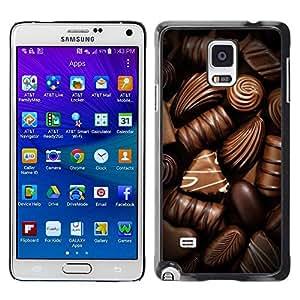 TopCaseStore / la caja del caucho duro de la cubierta de protección de la piel - Candy Brown Food - Samsung Galaxy Note 4 SM-N910F SM-N910K SM-N910C SM-N910W8 SM-N910U SM-N910