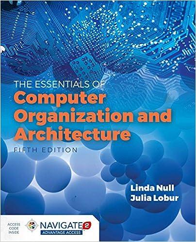 Essentials Of Computer Organization And Architecture Null Linda Lobur Julia 9781284123036 Amazon Com Books