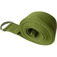 D-Ring Yoga Belt Yoga Strap Yoga Rope Yoga Acessories for Entry Level or Beginners-Durable Cotton for Stretching Holding Poses Bodybuilding