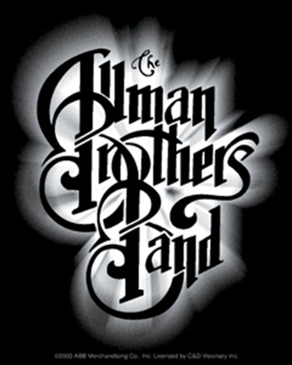 S-2606 Licenses Products Allman Brothers Glow Logo Sticker C/&D Visionary Inc