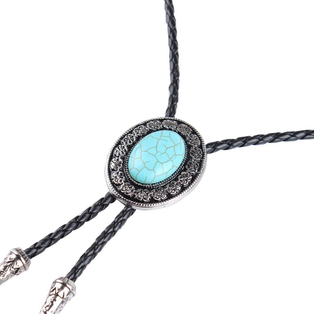 P Prettyia Collar de Gargantilla Hombre Estilo Vintaje Corbata Clásica de Vaquero  Lazo Occidental de Bolo 63a6a051e21