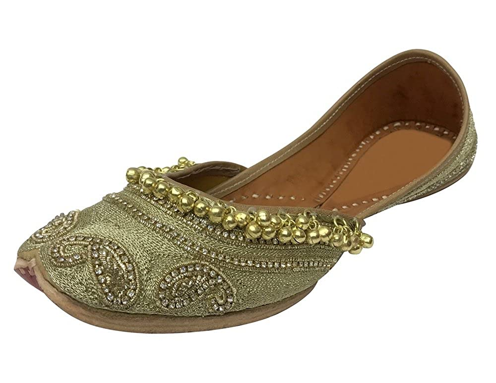 a763a031475e Step n Style Indian Traditional Shoes Punjabi Jutti Mojari Khussa Jooti Flat  Ballet  Buy Online at Low Prices in India - Amazon.in
