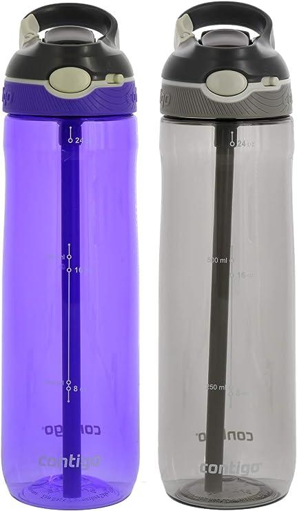 Contigo AUTOSPOUT Chug 32oz Plastic Water Bottle BPA-Free Grapevine Purple