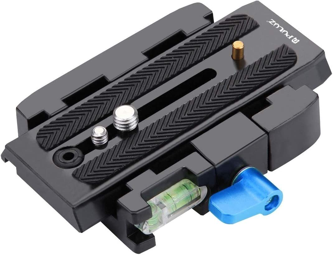 Color : Black Quick Release Plate for DSLR /& SLR Cameras Camera Tripod Easy to Install Quick Release Clamp Adapter Black
