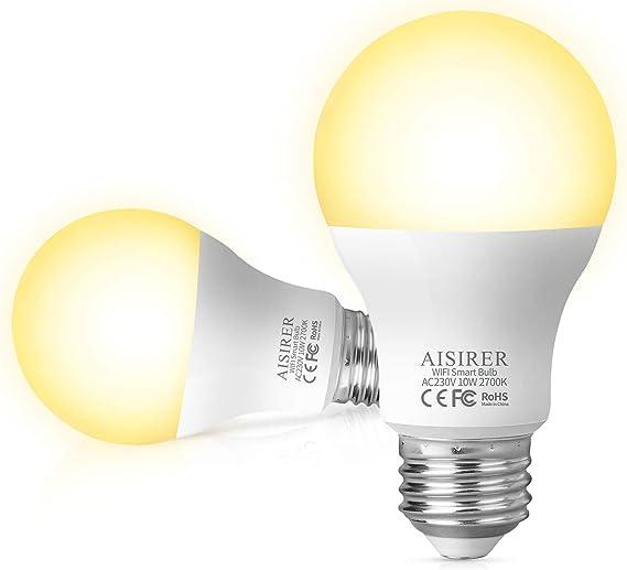 Alexa Gl/ühbirnen E27 auf NUR 2.4 GHz Netzwerk Smart LED lampen EDISON Gl/ühbirnen Kompatibel mit Google Home by Avatar Controls