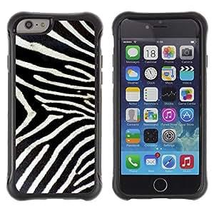 "Pulsar iFace Series Tpu silicona Carcasa Funda Case para Apple iPhone 6+ Plus(5.5 inches) , Modelo de la cebra Whote Grises Naturaleza"""
