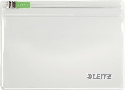 Farblos 40060000 geeignet f/ür Reiseutensilien, Gr. XS, PVC, Complete Leitz 2er-Pack Zip-Beutel