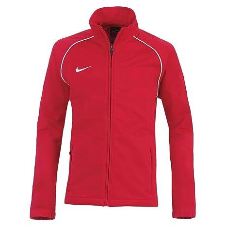 Nike pista chaqueta encontrado poliéster filtro rojo cremallera ...