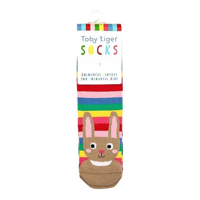 Toby Tiger - Calcetines - para niña Multicolor carbón