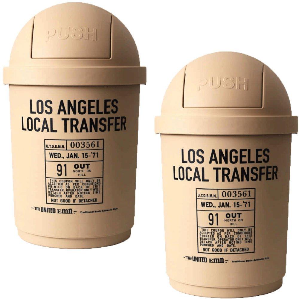 35L DUSTBIN 全8色の中から選べる2個セット ゴミ箱 ごみ箱 ダストボックス ふた付き おしゃれ ジェニーズトレーディング (ベージュ×ベージュ) B075N1FVV7 ベージュ×ベージュ ベージュ×ベージュ