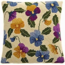 Cleopatra's Needle Pansy Garden Herb Pillow Tapestry Kit