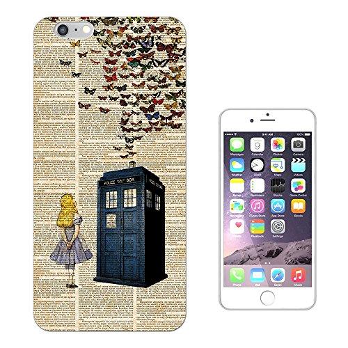 "477 - Vintage News Alice In Wonderland Doctor Who Tardis Call Box Butterflies Design iphone 7 (4.7"") Fashion Trend Silikon Hülle Schutzhülle Schutzcase Gel Rubber Silicone Hülle"