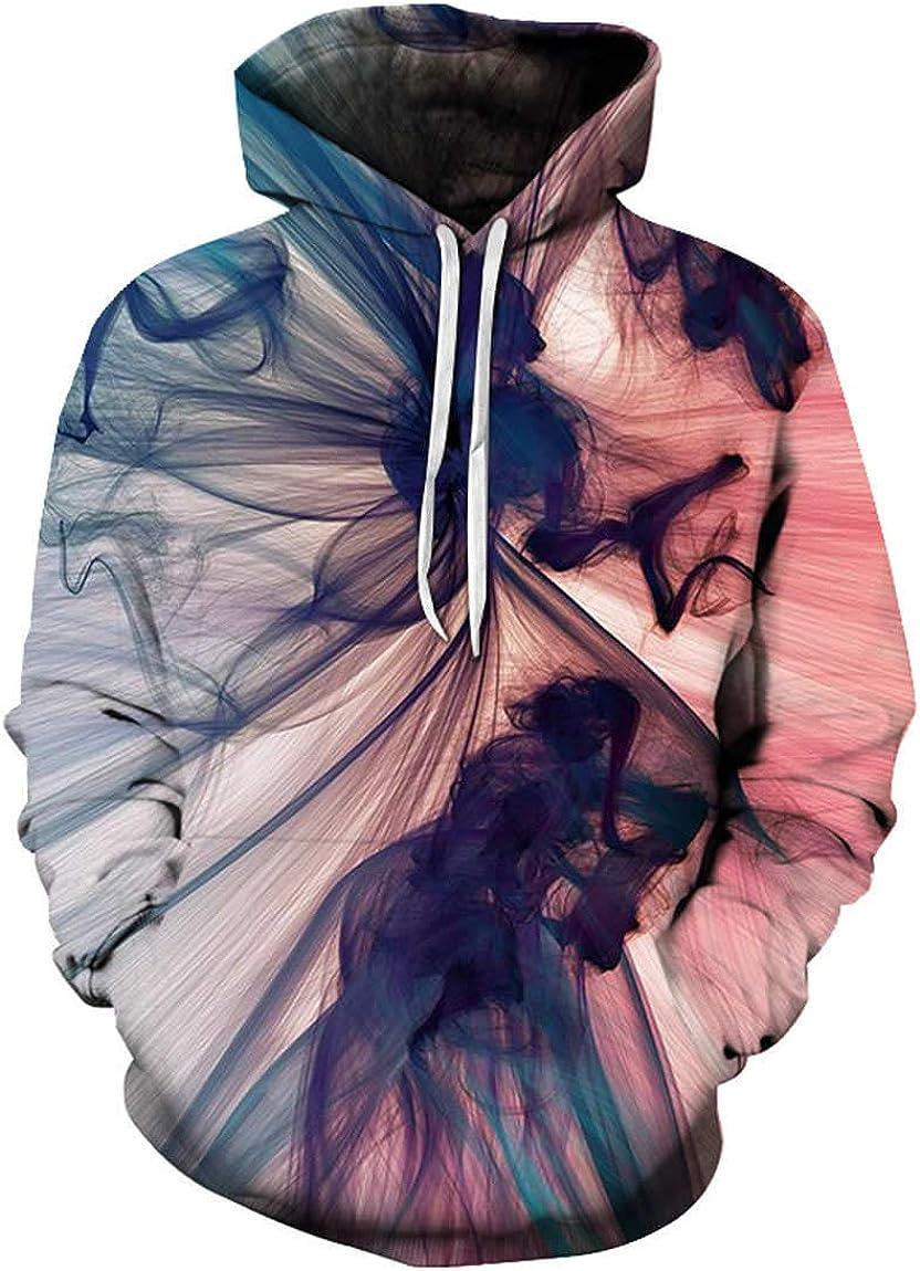 GGmar Men Hoodie Cartoon Anime Style 3D Print Pullovers Sweatshirt
